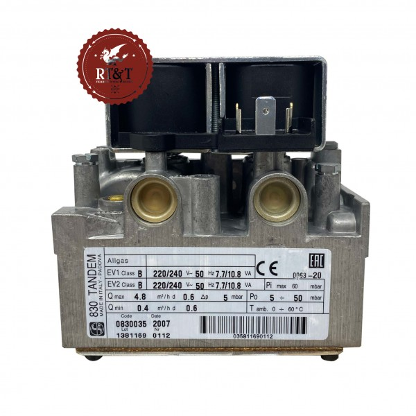 Valvola gas SIT 830 TANDEM 830035 caldaia Immergas 1021494, ex 1011355