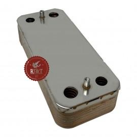 Scambiatore sanitario 14 piastre a flusso incrociato caldaia Arca Aeterna, Dea Clip, Pixel, Pocket SCA0914P