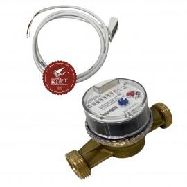 """Contatore volumetrico DN20 lanciaimpulsi acqua fredda attacchi 1"""" pompa di calore Emmeti 02709160"""