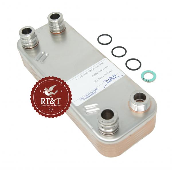 Scambiatore sanitario per Vaillant acquaBLOCK atmo e turbo VMI, atmoBLOCK Pro e Plus VMW, turboBLOCK Pro e Plus VMW 0020073795