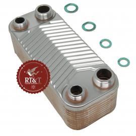 Scambiatore sanitario 20 piastre per Beretta Super Exclusive Micro, Super Exclusive Micromix R10022302