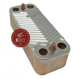 Scambiatore sanitario 20 piastre per Radiant RBA, RCM, RHR, RKA, RSA, RSF, RSR 43166LP, ex 20047LA