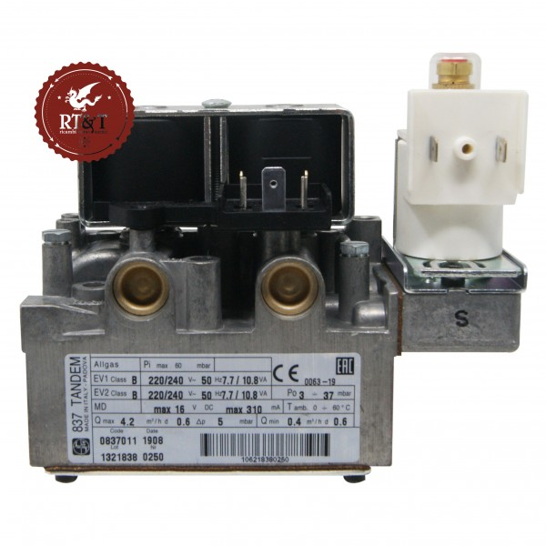 Valvola Gas Sit 837011 per Riello Benefit 20 KI, Benefit 24 KI, Externa 20 KIS, Externa 24 KIS 4363870