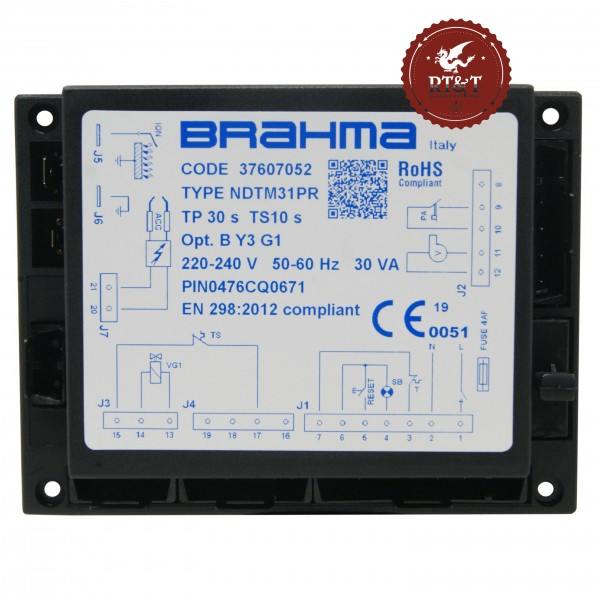 Scheda apparecchiatura accensione Brahma NDTM31PR 37607052