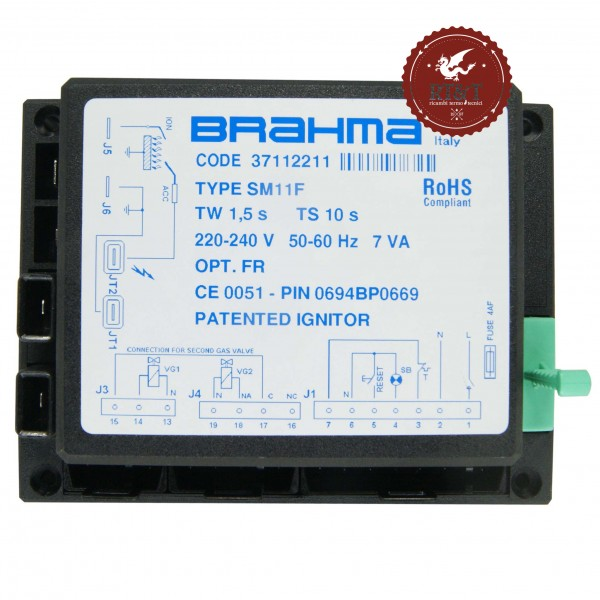 Scheda Brahma SM11F 37112211 per Bongioanni Eurobongas 001672730