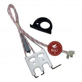 Elettrodo accensione rilevazione caldaia Ecoflam Ecosi 65115802, ex 65104233, ex 65104549