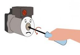 Pompa caldaia bloccata